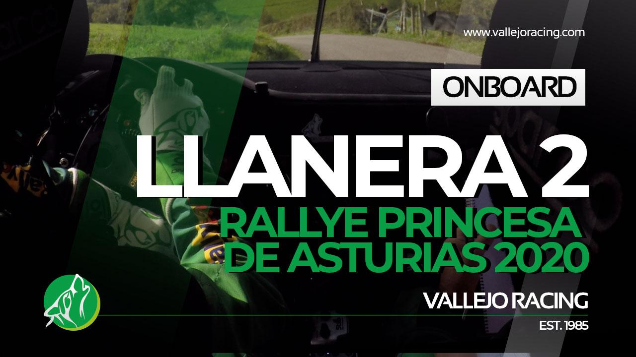 Rallye Princesa de Asturias 2020. Onboard. Llanera 2