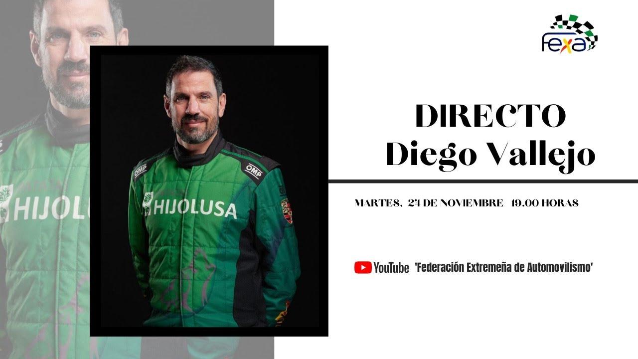 Diego Vallejo en directo con la Federación Extremeña de Automovilismo